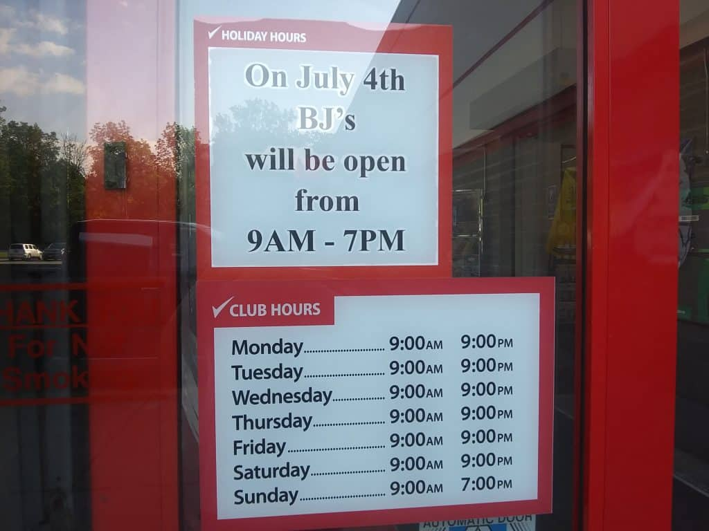 BJ's Wholesale Club 4th of July Hours 2019 | My BJs Wholesale Club