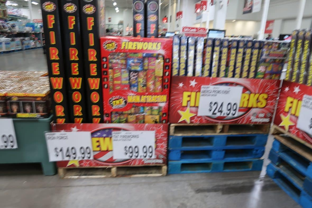 Do you Get Fireworks at Wholesale Clubs?