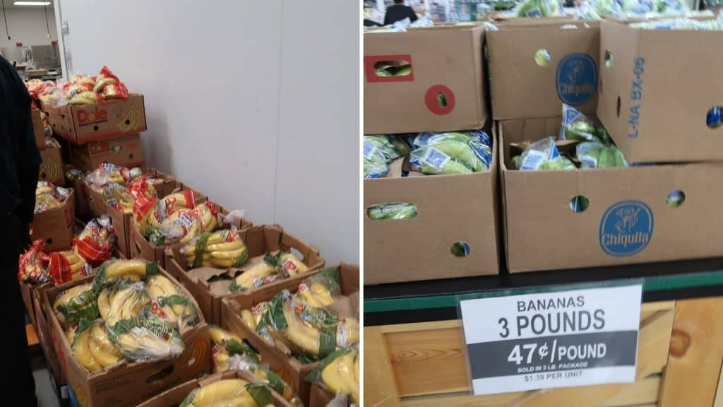 bananas prices at Bjs and costco