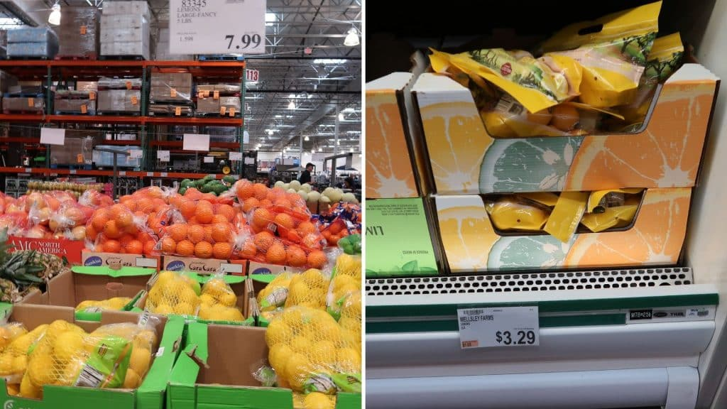 lemon prices at costco and BJs