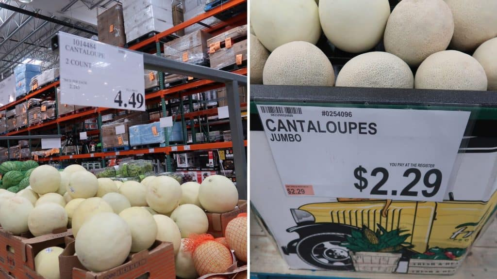 cantaloupe prices at BJs and costco