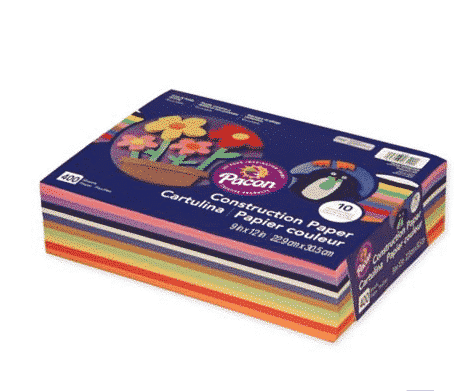 Construction paper ONLY $4.99 400 sheets!