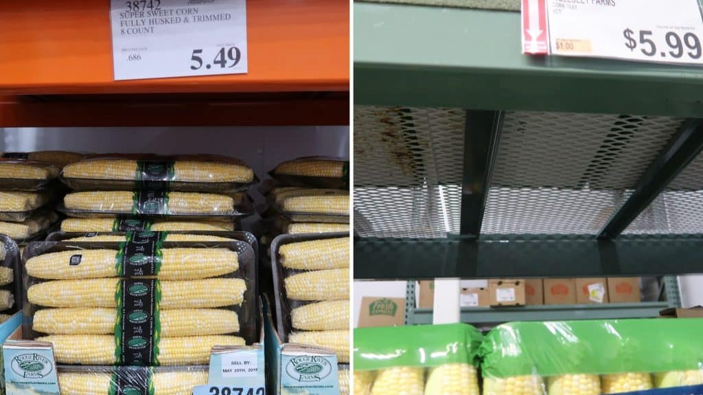 corn prices at BJs and costco