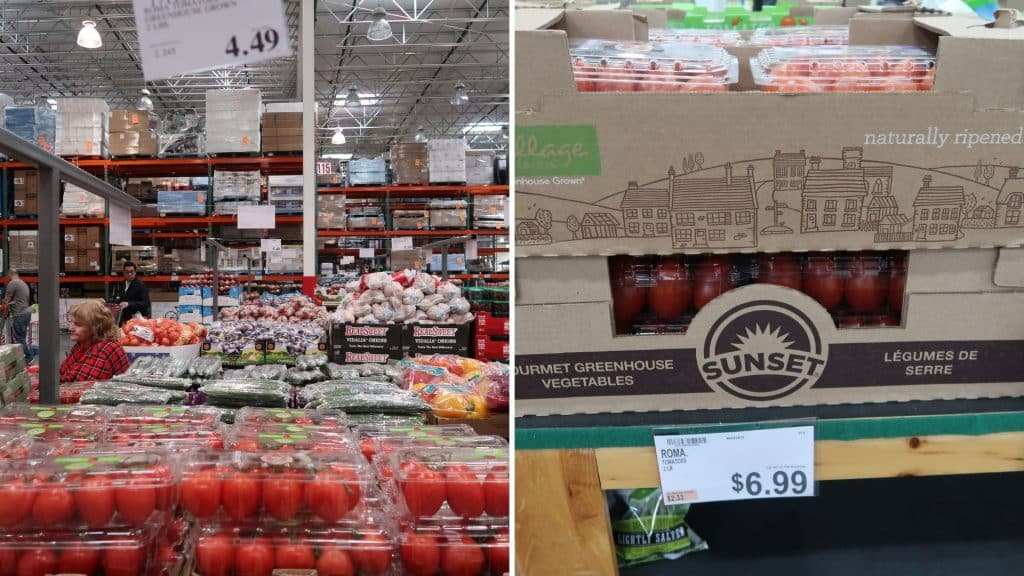 roma tomatoes at bjs and costco