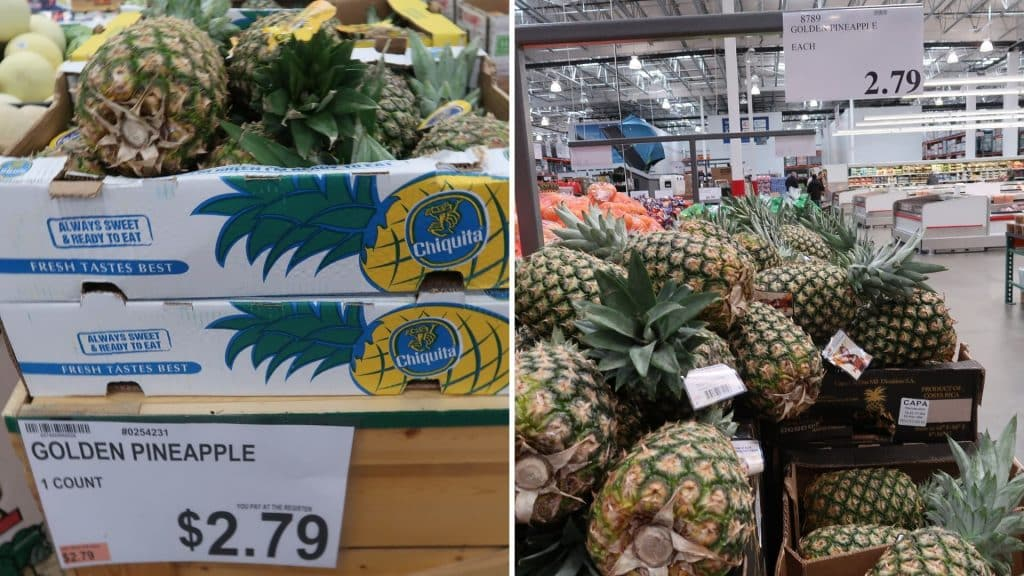 pineapple prices at bjs and costco