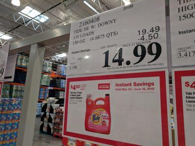 tide detergent costco