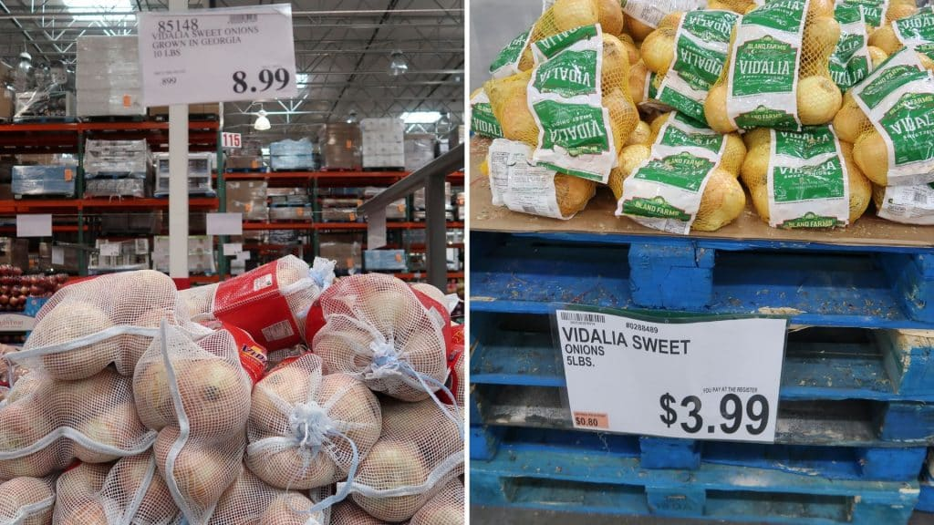 onion prices at BJs and costco