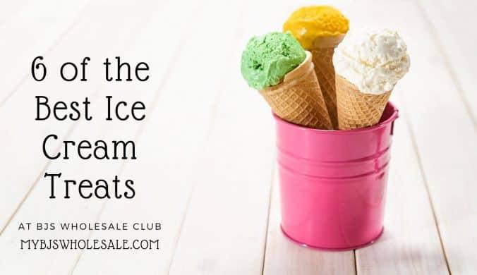ice cream treats at BJs wholesale club