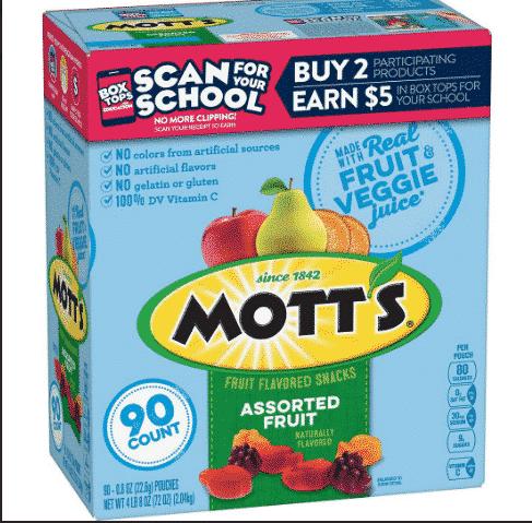 motts fruit snacks at BJs