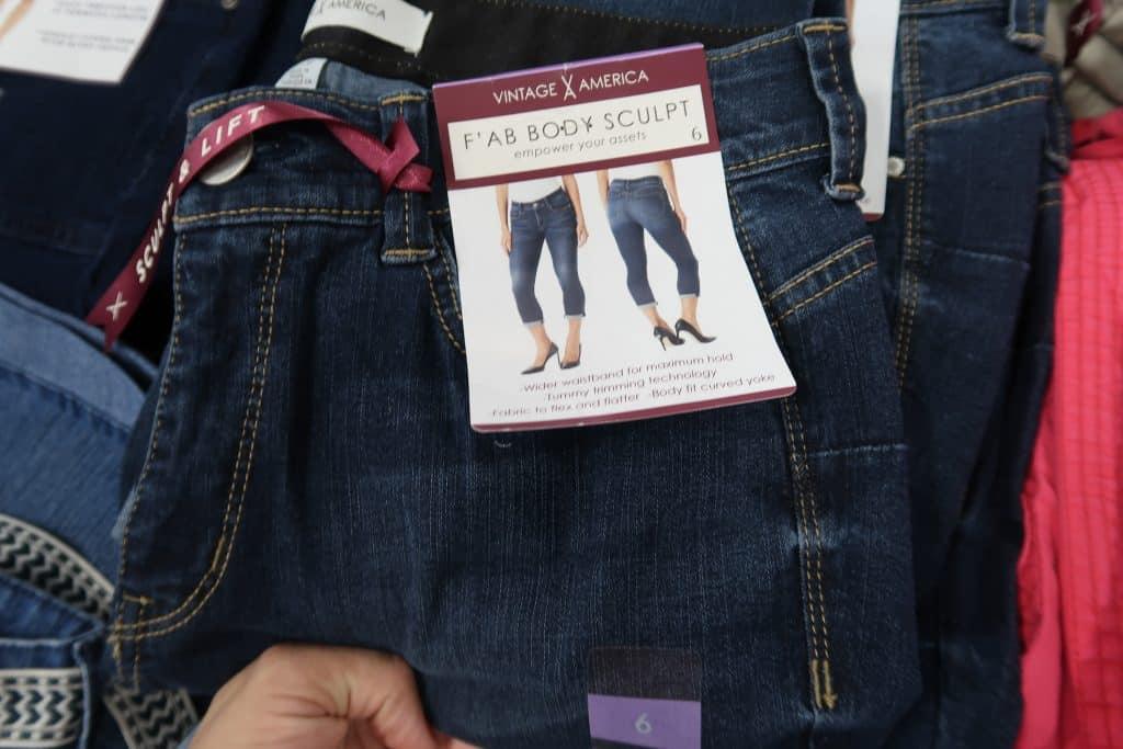 vintage america body sculpt jeans at BJs