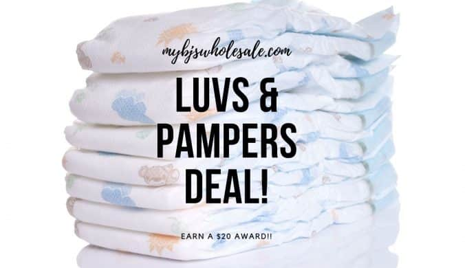 luvs and pampers diaper deal