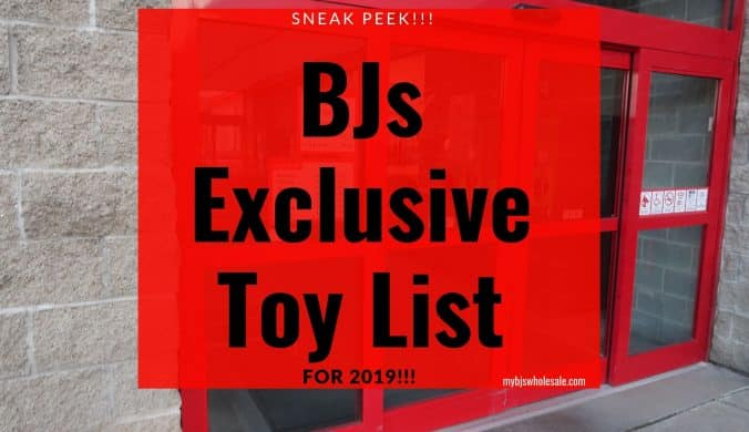 bjs exclusive toy list for 2019