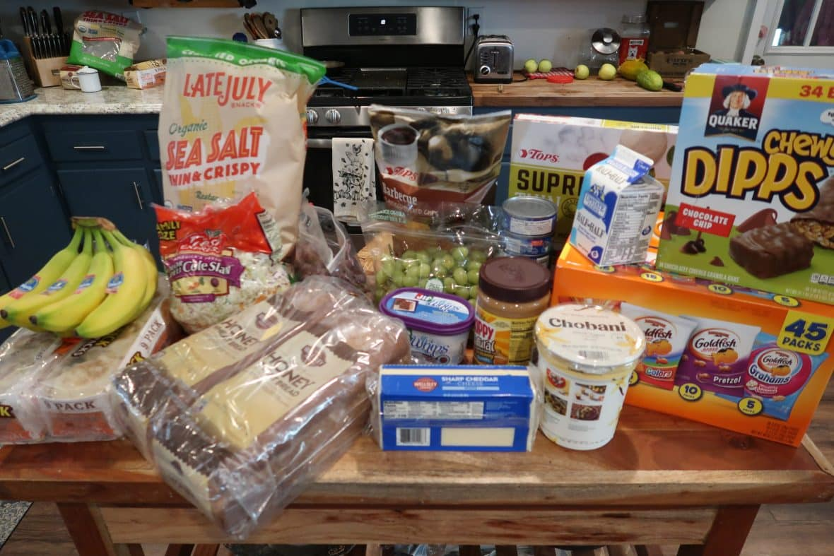 grocery shopping trip and meal menu