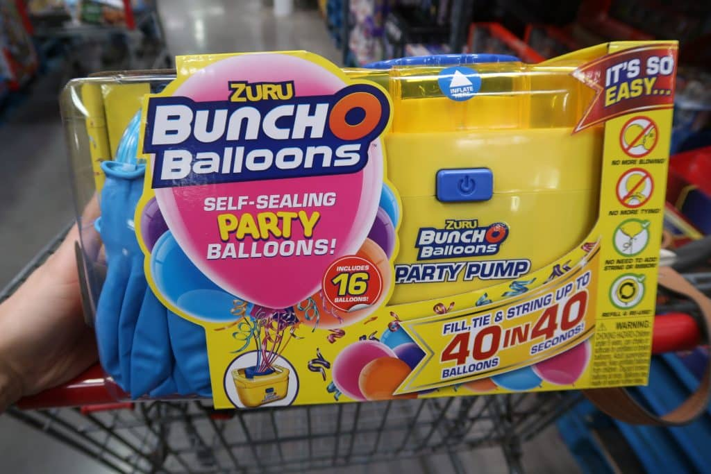 bunch o balloons at BJs