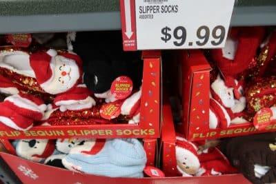 holiday slipper socks at BJs
