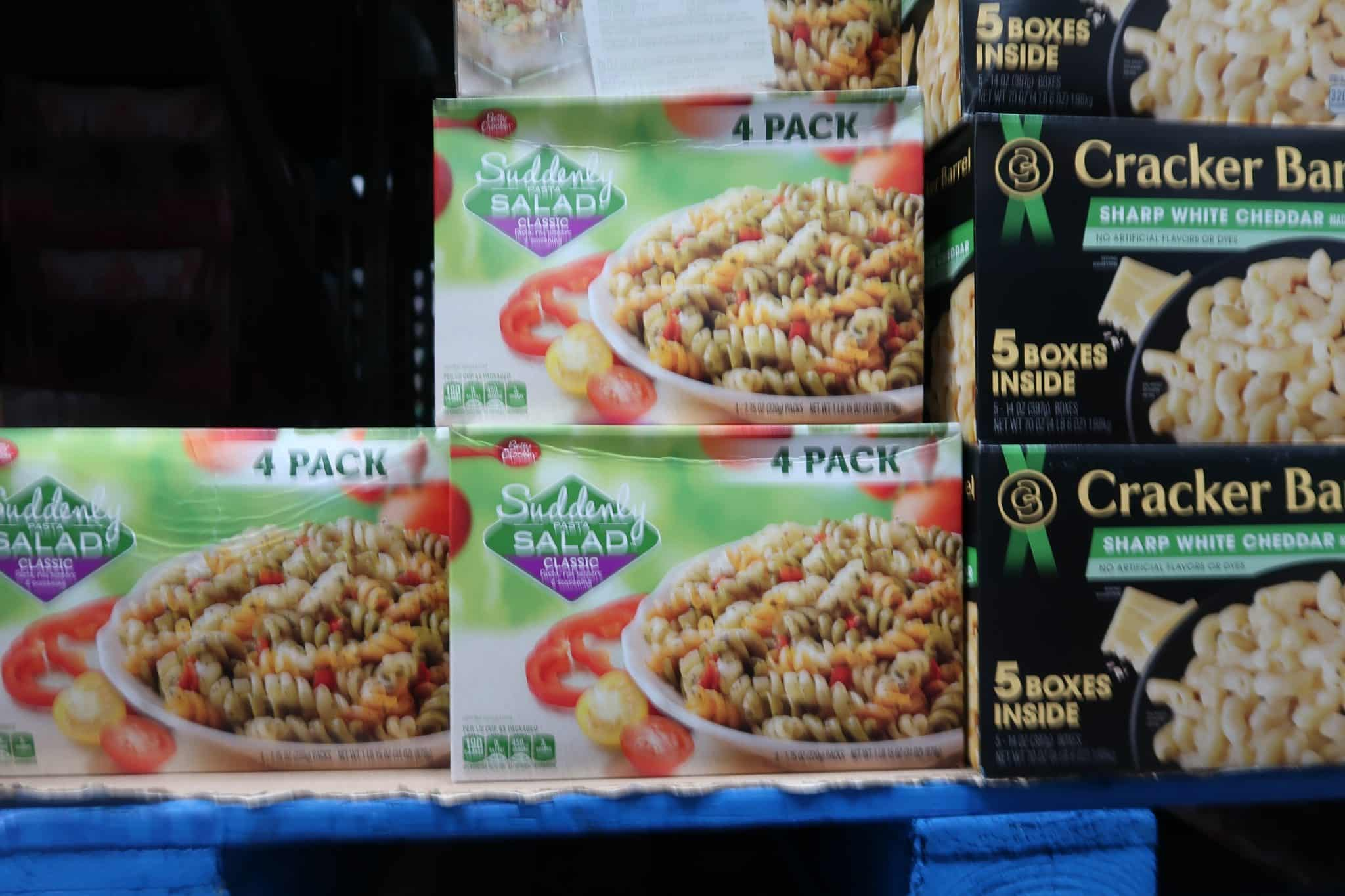 4 Boxes of Suddenly Salad Classic $3.98