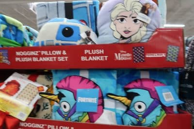 plush blankets at BJs
