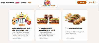 burger king kids meal deal free