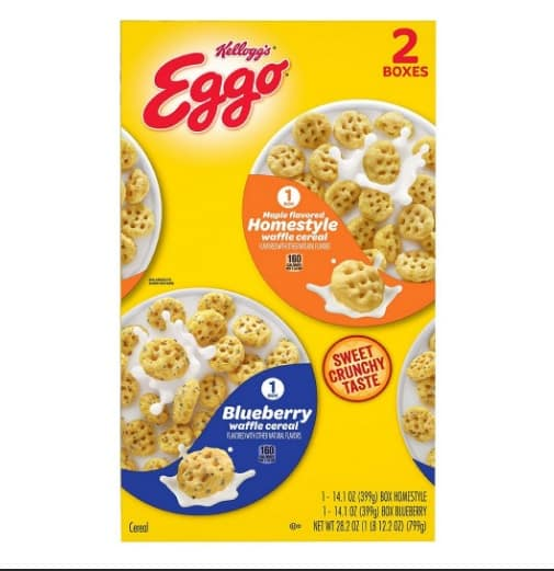 Kellogg's Eggo Breakfast Cereal ONLY $5.49 ( 2 boxes)